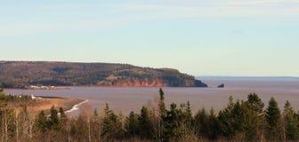 Widok na ocean, nowa Scotia, krajobraz Zdjęcie Royalty Free