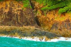 Widok na ocean od skał Obraz Royalty Free