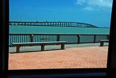 widok na ocean okno Zdjęcia Stock