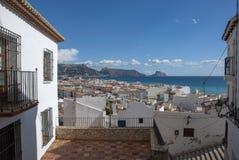Widok na ocean w Altea, Costa Blanca - Hiszpania zdjęcia stock