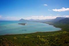 Widok na ocean w Mauritius Zdjęcia Stock