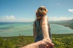 Widok na ocean w Mauritius Zdjęcie Stock