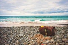 Widok na ocean z baryłką od statku Zdjęcia Stock