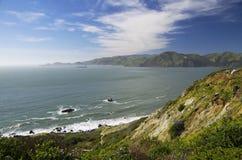 Widok na Pacyficznym oceanie od San Fransisco Wskazywać Bonita, Kalifornia, usa Fotografia Stock