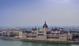 Widok na parlamencie Budapest Zdjęcia Royalty Free