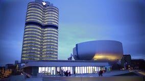 Widok na pięknym nowożytnym zakupy centrum handlowym w wieczór, ciekawy projekt zdjęcie wideo