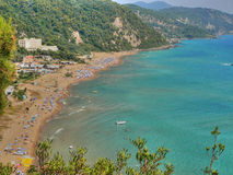 widok na plaży Zdjęcie Stock