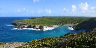 Widok na poradzie hellh w Guadeloupe zdjęcia royalty free