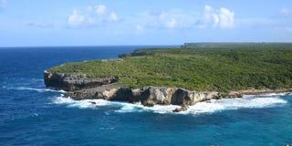 Widok na poradzie hellh w Guadeloupe obrazy royalty free