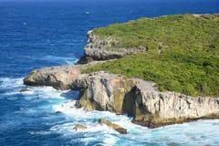 Widok na poradzie hellh w Guadeloupe zdjęcia stock