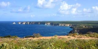 Widok na poradzie hellh w Guadeloupe obraz stock
