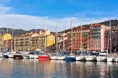 Widok na porcie Ładny, Francuski Riviera, Francja Obrazy Stock