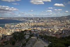 Widok na porcie i mieście Marseille Obrazy Stock