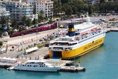 Widok na port Ładny, Francja Zdjęcia Royalty Free