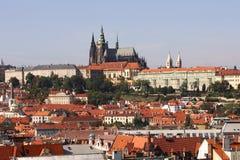 Widok na Praga kasztelu obrazy royalty free