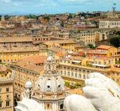 Widok na Roma ćwiartce od Vittoriano pałac wierzchołka Zdjęcie Stock