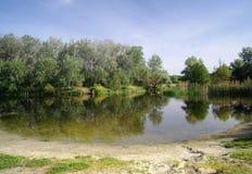 Widok na rzece, obraz stock