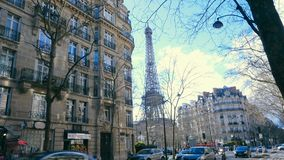 Widok na sławnej wieży eifla zbiory wideo