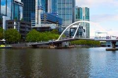 Widok na Southbank footbridge, Melbourne, Australia Zdjęcie Stock