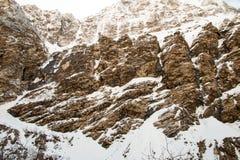 Widok na sposobie Annapurna Podstawowy Obozowy teren Fotografia Royalty Free