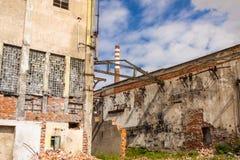 Stary papierowy młyn w Kalety, Silesia prowinci -, Polska. Zdjęcie Royalty Free