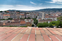 Widok na starych domach w Budapest i dachach, Węgry Obraz Royalty Free