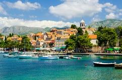 Widok na starym grodzkim Cavtat w Dalmatia, Chorwacja zdjęcie royalty free