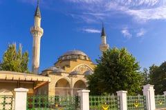Widok na starym meczecie w Evpatoria miasteczku zdjęcie stock