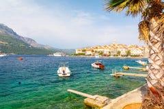 Widok na Starym miasteczku Korcula, Dalmatia, Chorwacja zdjęcie royalty free