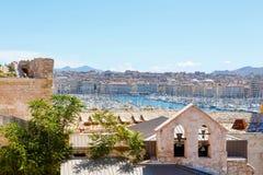 Widok na starym porcie w Marseille, Francja Zdjęcie Royalty Free