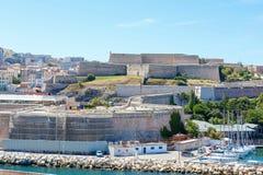 Widok na starym porcie w Marseille, Francja Zdjęcia Royalty Free