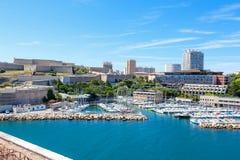 Widok na starym porcie w Marseille, Francja Obraz Royalty Free