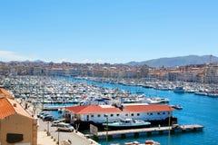 Widok na starym porcie w Marseille, Francja Zdjęcie Stock