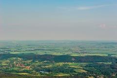 Widok na szerokim prostym rozciąganiu horyzont linia Obraz Royalty Free