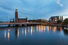 Widok na Sztokholm urzędzie miasta Fotografia Royalty Free