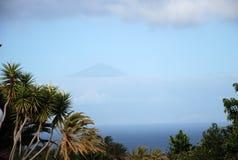 Widok na Teide od losu angeles Gomera Fotografia Stock