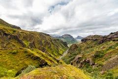 Widok na Thorsmork strefie w Iceland Obraz Stock