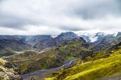 Widok na Thorsmork strefie w Iceland Obrazy Royalty Free