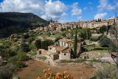Widok na Valldemosa w Majorca zdjęcia royalty free