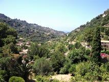 Widok na Valldemossa dolinie w Mallorca zdjęcie stock