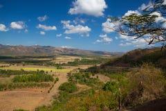 Widok na Valle De Los Ingenios na cukrowej plantaci, Kuba Fotografia Stock