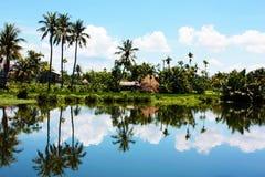 Widok na Vietnam wiosce Zdjęcie Stock