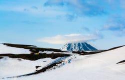 Widok na Viluchinskiy wulkanie, Kamchatka, Rosja Fotografia Royalty Free