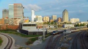 Widok na w centrum Raleigh, NC obrazy royalty free