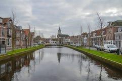 Widok Na Weesp mieście holandie 2018 Zdjęcie Royalty Free