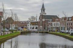Widok Na Weesp mieście holandie 2018 Obraz Stock