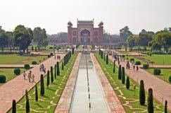 Widok na wejściu Taj Mahal kompleks w Agra, India Obraz Stock