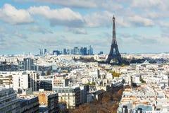 Widok na wieży eifla i panoramie Paryż fotografia stock