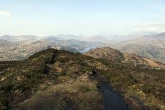 Widok na wierzchołku góra Zdjęcia Royalty Free