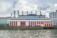 Widok na Wodnej elektrowni w Moskwa Fotografia Royalty Free